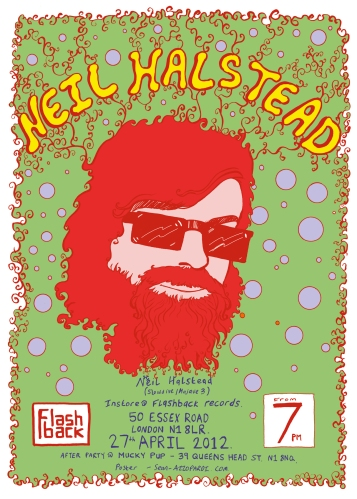 Neil Halstead - Flashback poster
