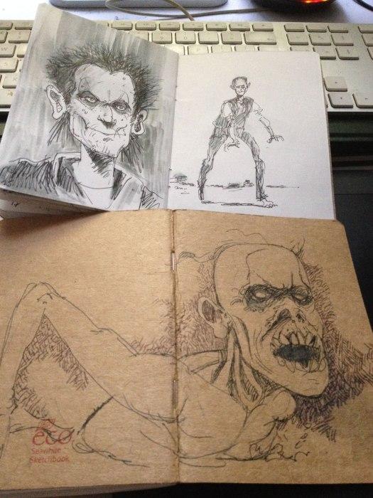 Monster-sketchbook