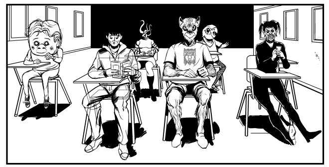 Monsters school